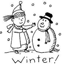 ภาพระบายสี : ตุ๊กตาหิมะ [Snowman] II