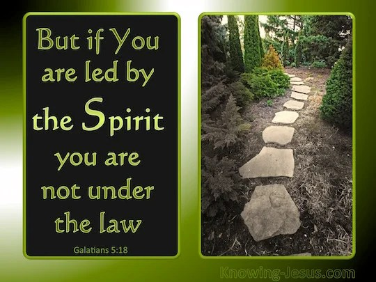 Galatians 518 But if you are led by the Spirit you are