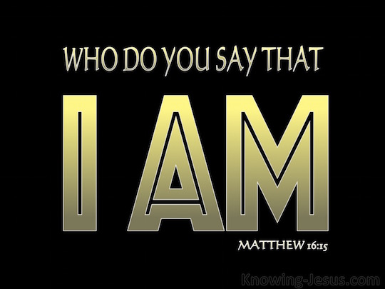 Matthew 1615 He said to them But who do you say that I am