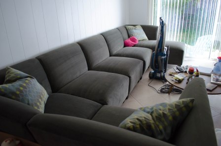 Smooth lovely vacuumed couch