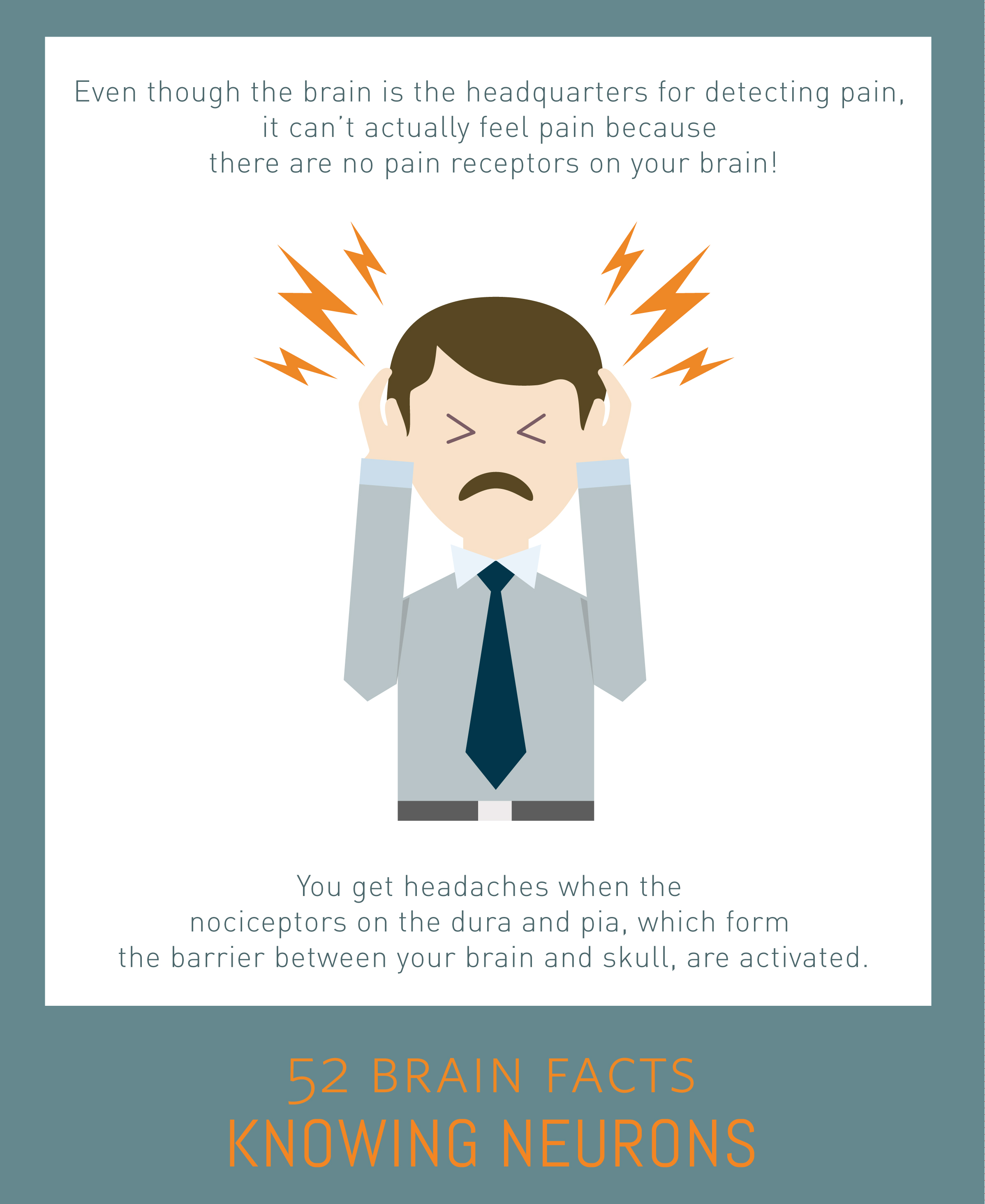 Myth or Fact? Cutting into the brain of an awake patient directly results in agonizing pain.