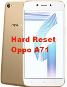 Hard Reset Oppo A71, Master Format, Factory Reset, Recovery