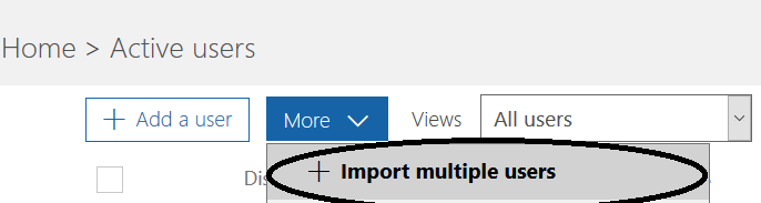 figure 4- Import multiple users option