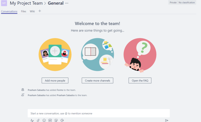 Figure 6 - Microsoft Teams -Team