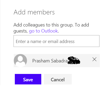 fig2-Adding Member to modern team site
