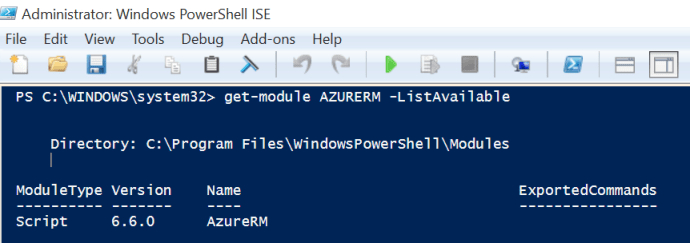 PowerShell-get-modules