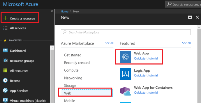 Create New Web App In Azure_1