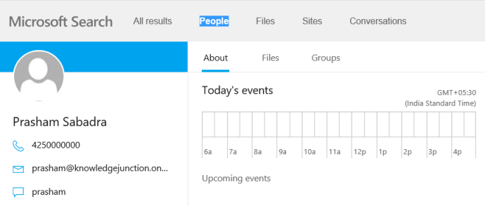 Office 365 - Microsoft Search in Bing - Showing my SharePoint result