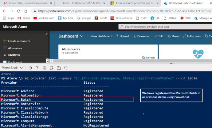 Get all Resource Provider using Azure CLI