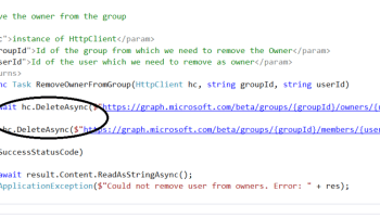 Office 365 – Microsoft Graph – Part 6 – Adding Office 365 Group
