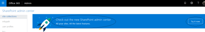 fig1_Option to try new admin center