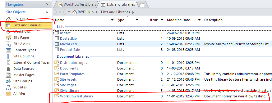Office 365 - SharePoint Online - Create Document Library SharePoint Designer 2013 - Lists and Libraries