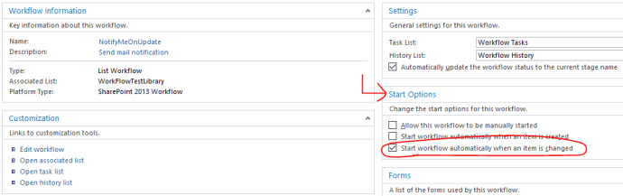 Office 365 - SharePoint Online - SharePoint Designer 2013 - Workflow - Start Option