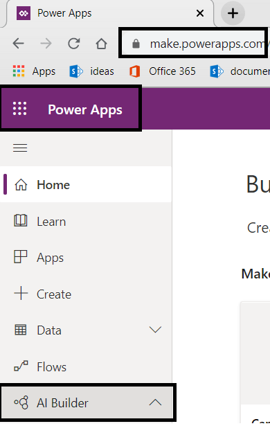 Power Platform - Power Apps - AI Builder