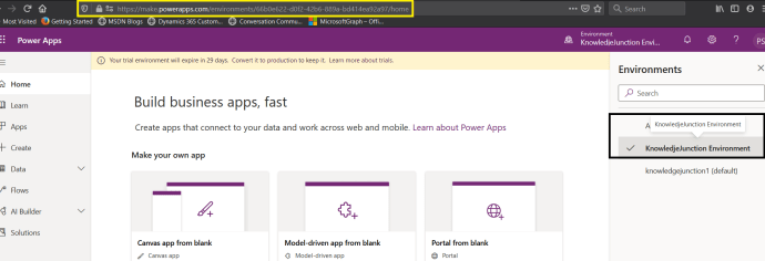 Power Platform - Power Apps - Using New Environment for our Apps, AI BUILDER features (Models), Power Automate :)