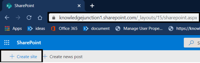 "M365 - SharePoint Online - SharePoint home page - customer wants to change the ""+ Create site"" link"