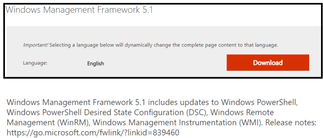 M365 - PowerShell scripts - Installing Windows Management Framework 5.1