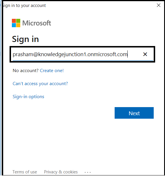 M365 : O365 Group - Connecting to Azure AD - Prompt for User Name