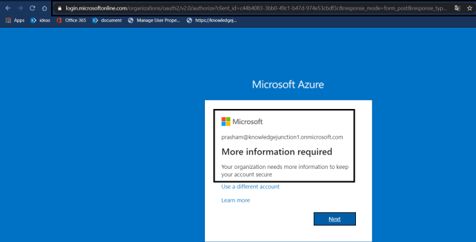 "Azure AD - Azure AD Portal - ""Active Directory Menu Blade"" page - Password Reset >> Enabled SSPR >> Requiring more details while log in first time after enabling SSPR"