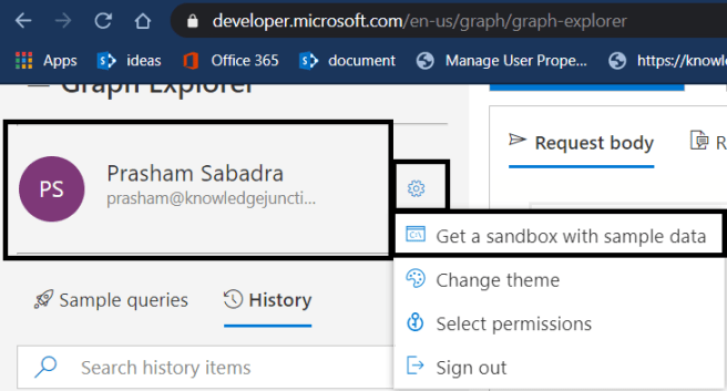 Microsoft Graph - New Features - Integration with Microsoft 365 Developer program