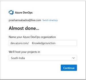 Azure DevOps - Starting with AzureDevOps - Name for Azure DevOps organization