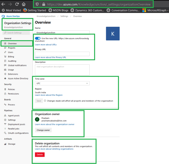 Azure DevOps - Starting with AzureDevOps - Organization Settings Overview