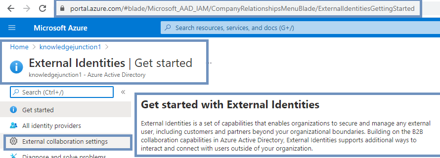 External user collaboration settings in Azure AD