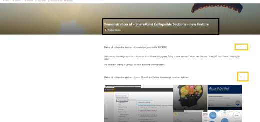 M365 - SharePoint Online - SharePoint collapsible section