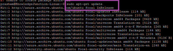 LINUX - Installing Azure CLI - Getting dependent packages
