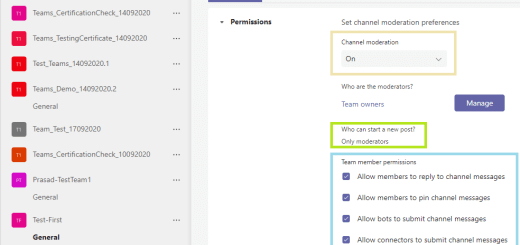 Microsoft Teams - Channel moderation is ON - permission setting for Team members