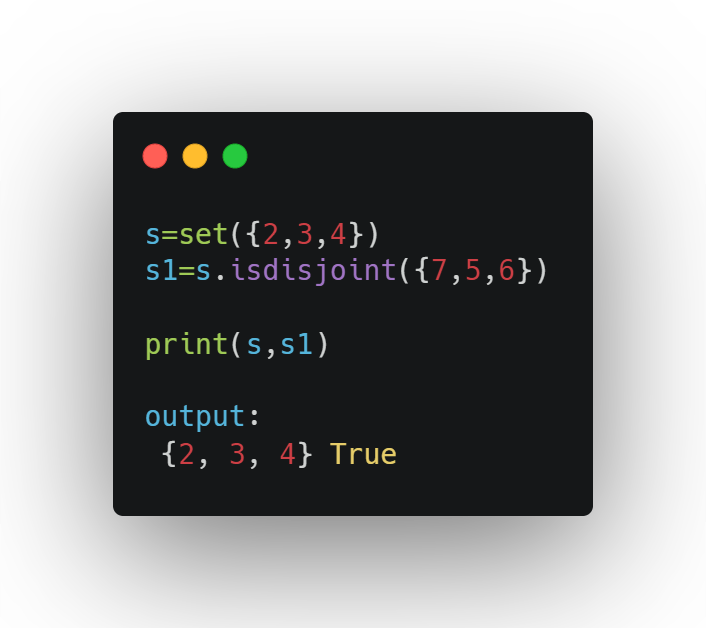 Exploring sets in Python
