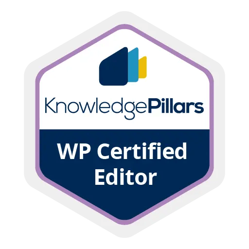 WordPress Certified Editor Badge