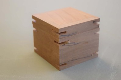Box and lid with slots machined