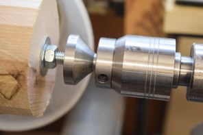 Axminster tailstock centre and inverse cone