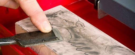 Flatting the back of a chisel