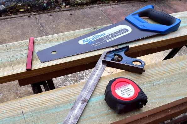 If the timber is dry, use a handsaw