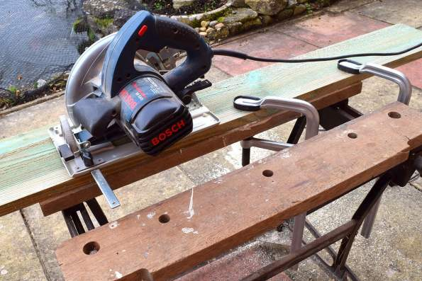 Clamp the board to the workbench