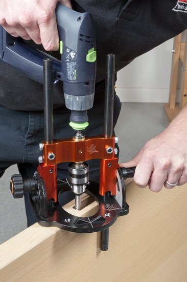 Drilling a mortice lock