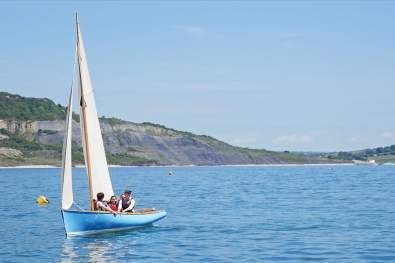 Sailing in Lyme Bay