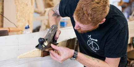 Hand tools are used for the first six weeks