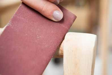 Sanding by hand