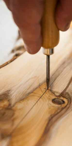 Marking with an awl