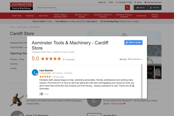 New 5 star Google review