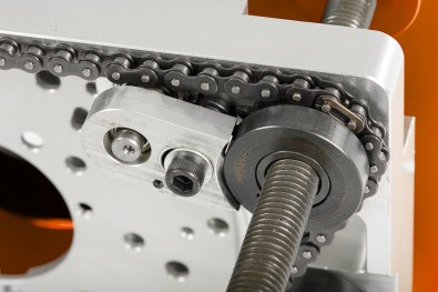 Chain driven rise and fall mechanism