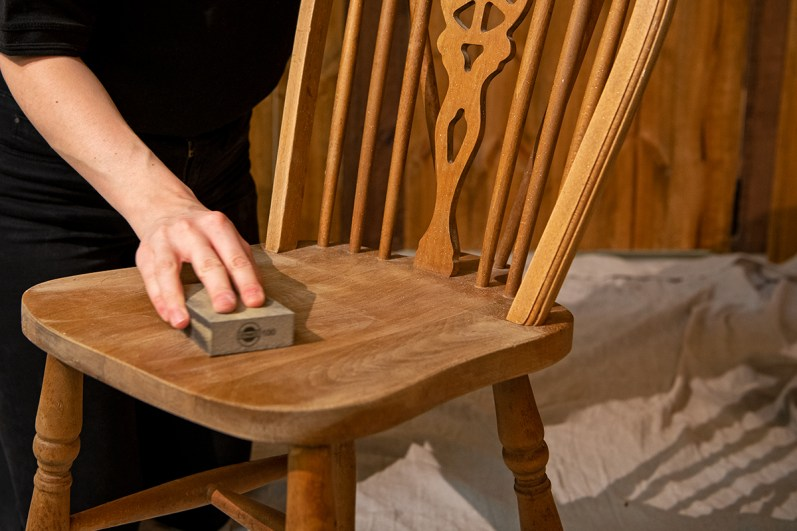 Varnished or painted surfaces require very little preparation