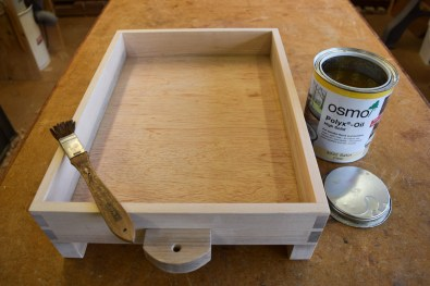 Application of two coats of Osmo PolyX