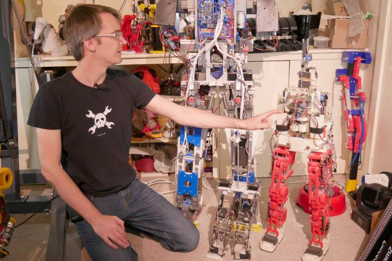 YouTuber James Bruton Shows Off His Collection Of Robots