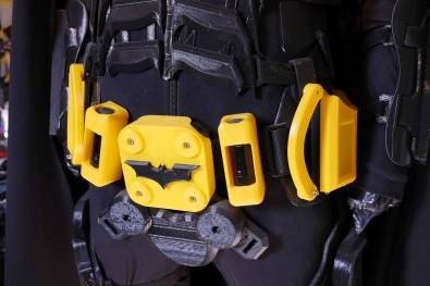 3D Printed Batman belt And Suit By Maker And YouTuber James Bruton