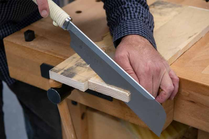 Trim your glued panels square on one end