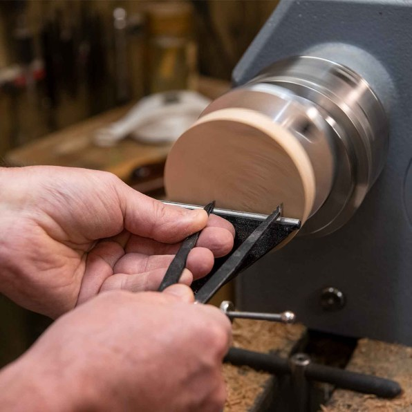 Measure your first disc using dividers